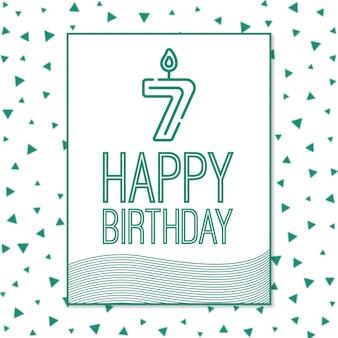 7ª feliz aniversário fundo