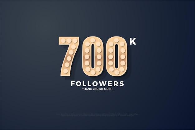700 mil seguidores de segundo plano com números de textura personalizados