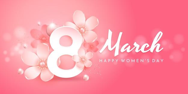 8 de março. banner