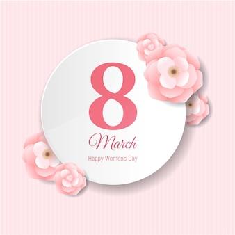 8 de março cartão comemorativo