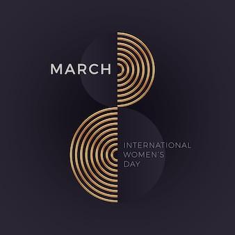 8 de março - cartão do dia internacional da mulher.