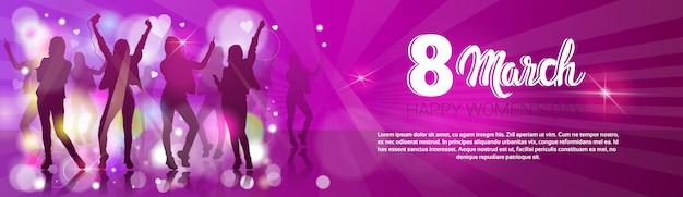 8 de março cartão internacional do partido do dia das mulheres