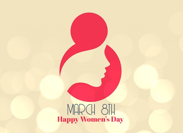 8 de março criativo design de dia feliz feminino