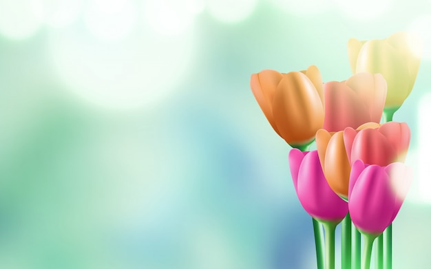 8 de março de fundo do dia internacional da mulher com flores.