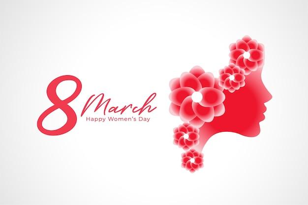 8 de março design de plano de fundo do dia internacional da mulher