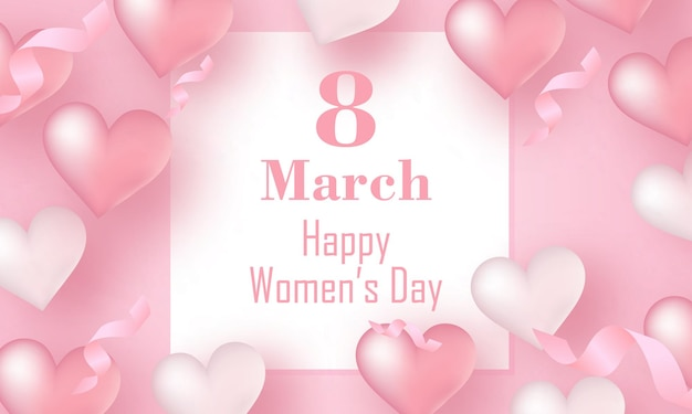 8 de março design de saudação feliz dia internacional da mulher