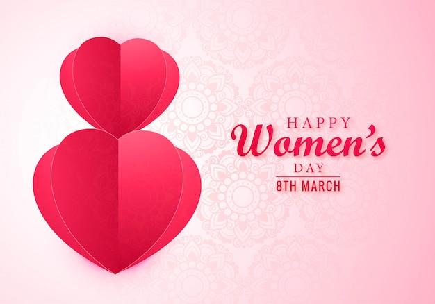 8 de março dia internacional das mulheres felizes cartão