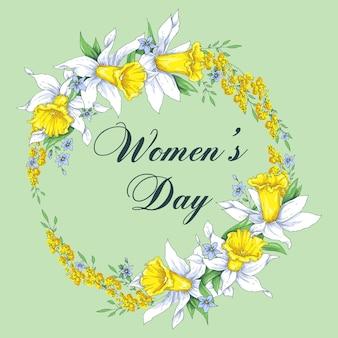 8 de março modelo de cartão de dia das mulheres s. figura verde azul surpreendente oito.