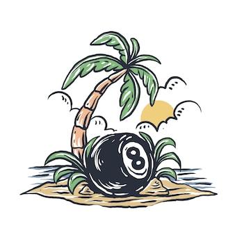 8 ilha de piscina
