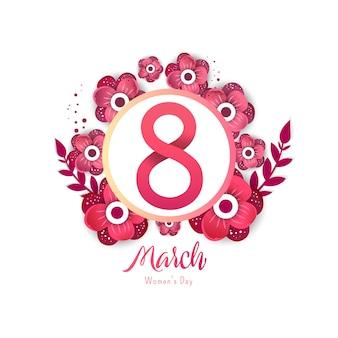 8 número ilustração 3d com decoração de cor