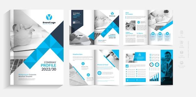 8 páginas design criativo do modelo do folheto comercial