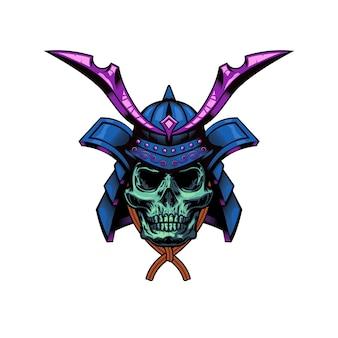 80. ilustração de war helm of the samurai warrior