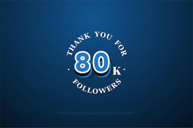 80 mil seguidores em estilo moderno