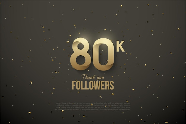 80k seguidores com ilustração de figura padronizada.