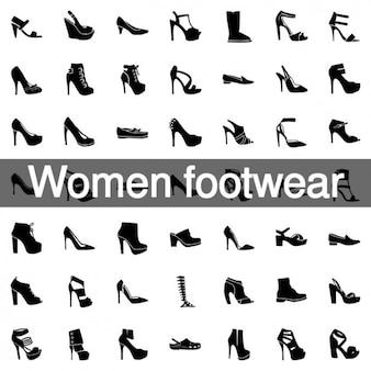 81 mulheres calçados ícones