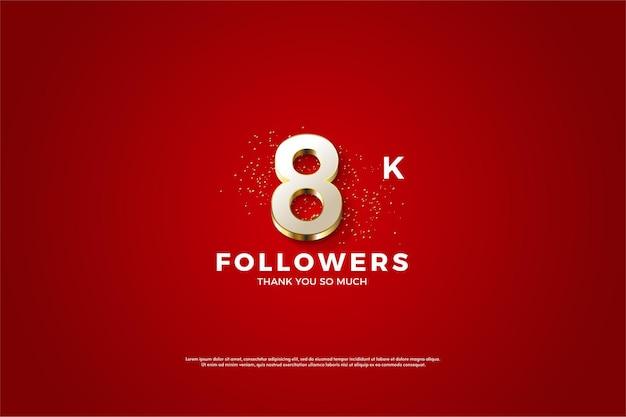 8k seguidores com número extravagante banhado a ouro