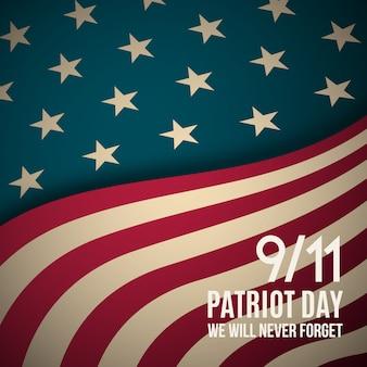 9/11 de fundo do dia do patriota.