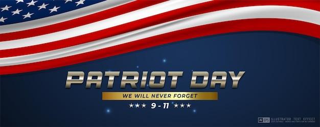 9.11 fundo do banner do dia do patriota