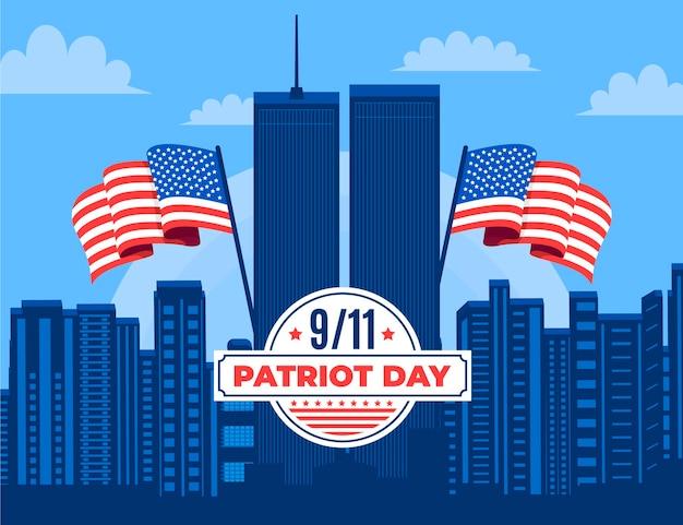 9.11 ilustração do dia do patriota