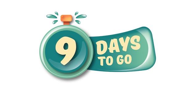 9 dias para ir para o modelo de design de banner