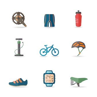 9 ícones bicicleta