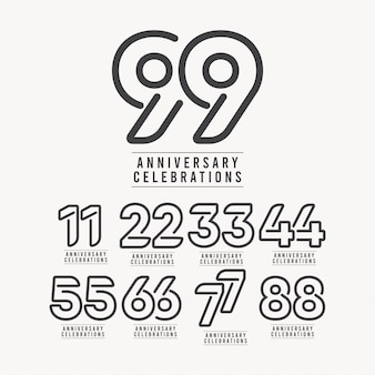99 anos aniversário comemoração número modelo design ilustração