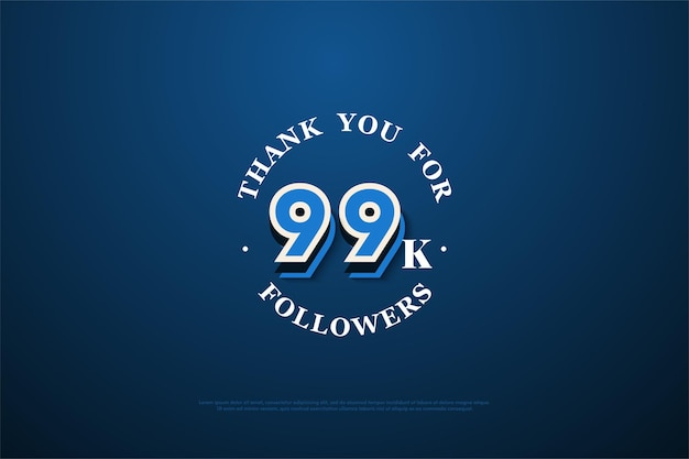 99 mil seguidores com modelo numérico de graffiti