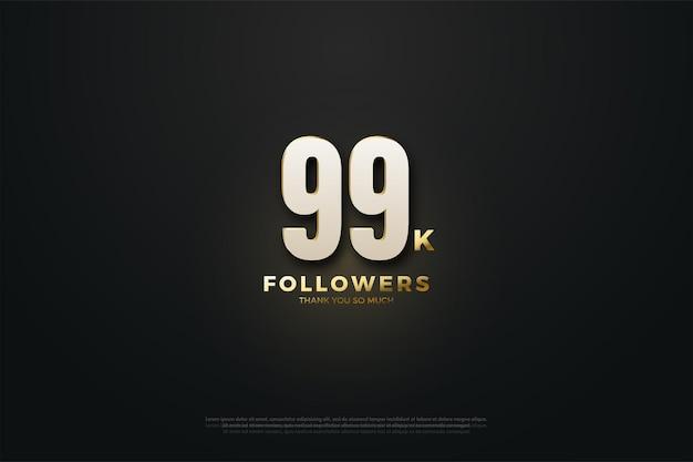 99 mil seguidores com números brilhantes
