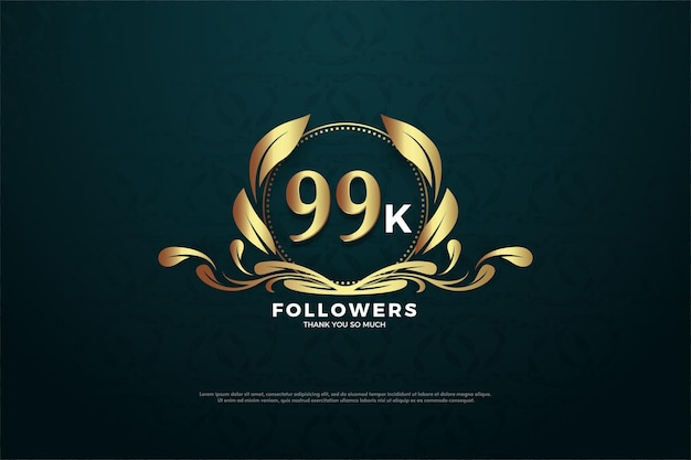99 mil seguidores com números dentro de símbolos