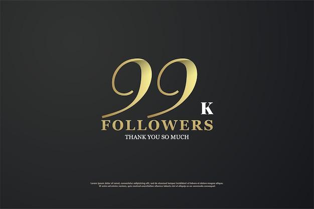 99 mil seguidores com números únicos