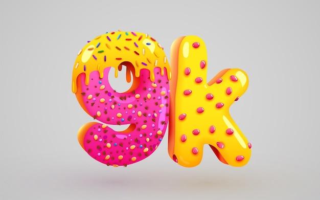 9k ou 9000 seguidores donut sobremesa assinar amigos de mídia social obrigado seguidores