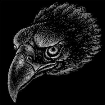 A águia para tatuagem ou design de camiseta
