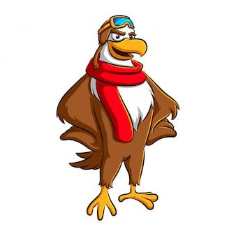 A águia se torna um piloto