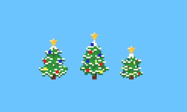 A árvore de natal do pixel ajustou-se com star.8bit.