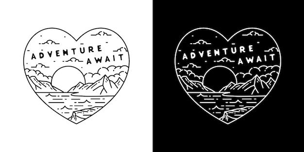 A aventura do amor espera por monoline