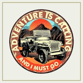 A aventura está chamando e devo ir retro tin signs