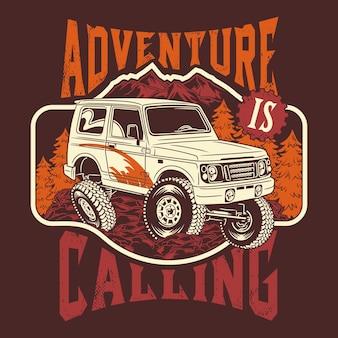 A aventura está chamando frases de citações off-road