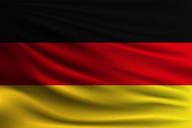A bandeira nacional da alemanha.