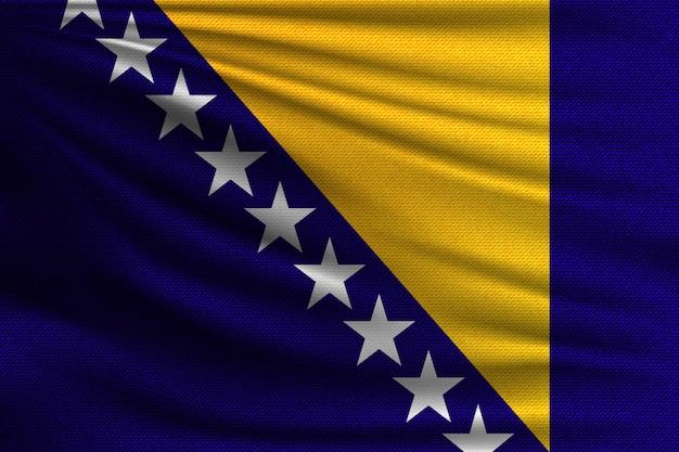 A bandeira nacional da bósnia e herzegovina.