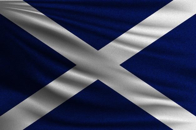 A bandeira nacional da escócia.