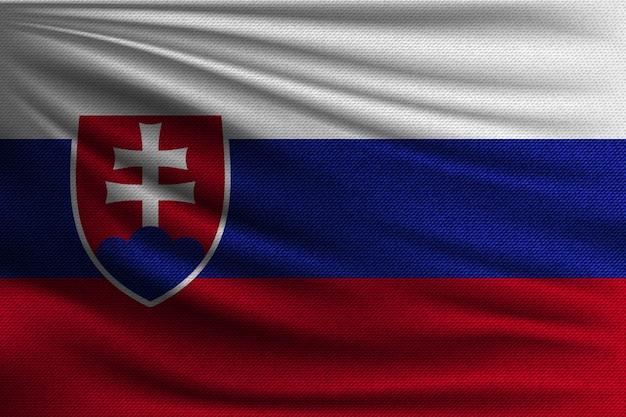 A bandeira nacional da eslováquia.