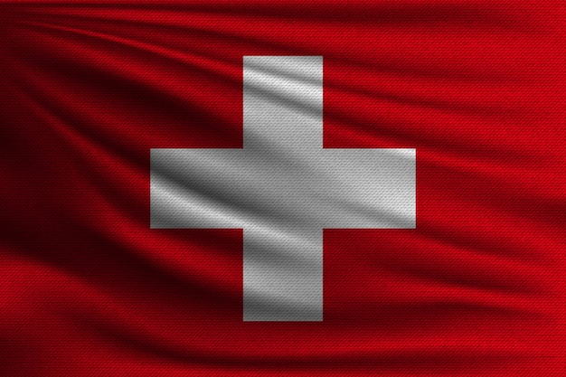 A bandeira nacional da suíça.