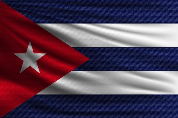 A bandeira nacional de cuba.
