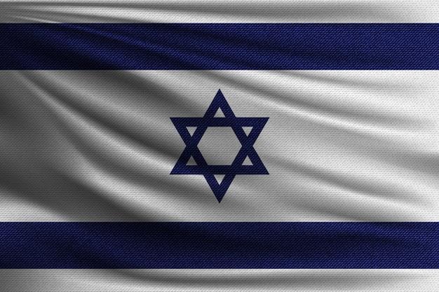 A bandeira nacional de israel.