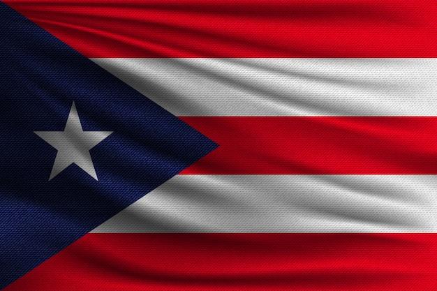 A bandeira nacional de porto rico.