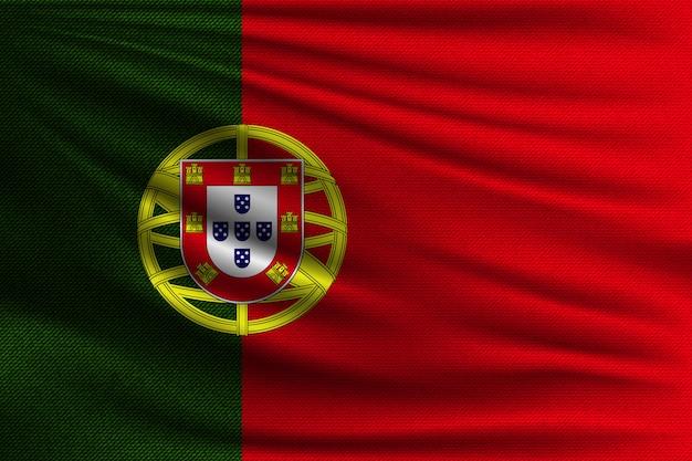 A bandeira nacional de portugal.