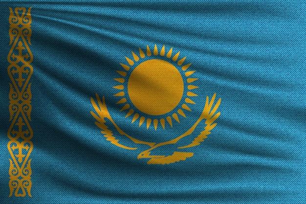 A bandeira nacional do cazaquistão.