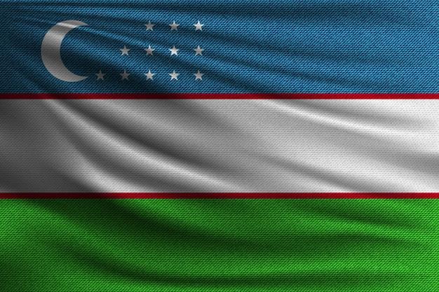 A bandeira nacional do uzbequistão.