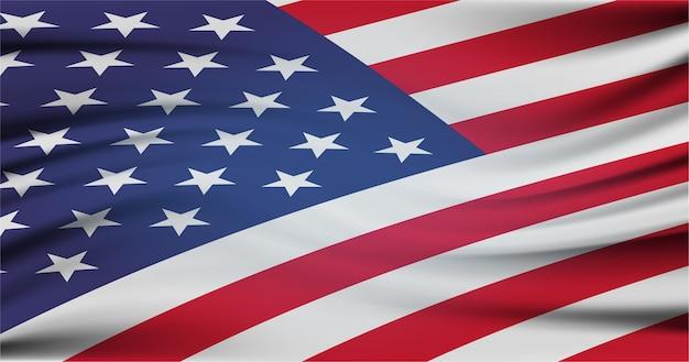 A bandeira nacional dos estados unidos da américa
