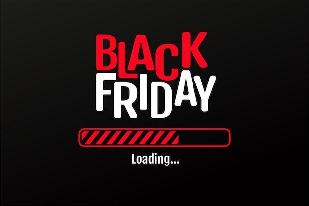 A barra de carregamento com estrela vermelha e preta está iniciando a venda da blackfriday.